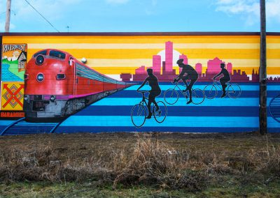Rozalia Singh Mural - City of Milwaukee Beerline Trail - The People's Flag of Milwaukee