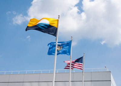 New Milwaukee Flag at Discovery World - Milwaukee, Wisconsin - The People's Flag of Milwaukee