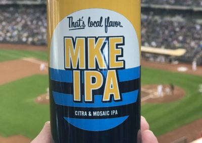 Milwaukee Brewing - MKE IPA - Brewers Game at Miller Park