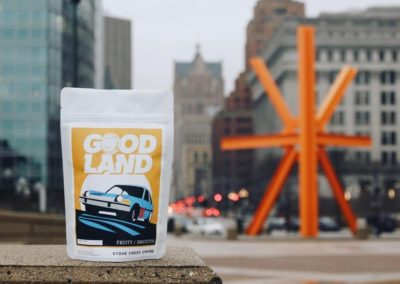 Stone Creek Coffee - Good Land - Milwaukee Flag design for Milwaukee Day