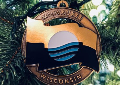Limited Edition Milwaukee Flag Christmas Ornament - Milwaukee, Wisconsin