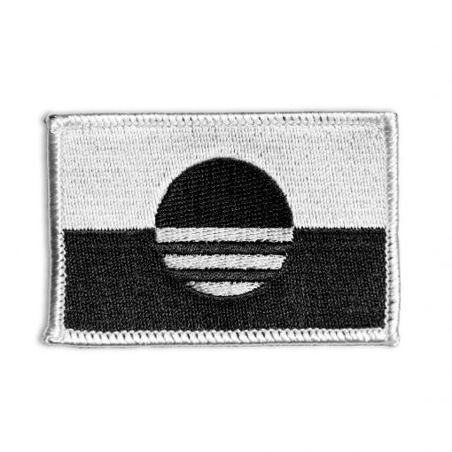 New City of Milwaukee Flag Patch - The People's Flag of Milwaukee Patch - Black & White